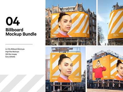 4x Billboard Construction Mockups motion graphics 3d animation ux vector ui logo icon illustrator graphic design design illustration branding