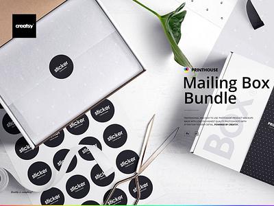 Mailing Box Mockup Bundle ux vector logo motion graphics 3d animation ui icon illustrator graphic design design illustration branding
