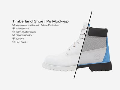 Timberland Shoe Mockup | Photoshop ux vector logo motion graphics 3d animation ui icon illustrator graphic design design illustration branding