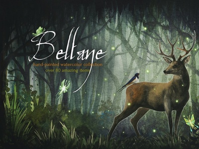 Beltane Fires Watercolor Collection ux vector logo motion graphics 3d animation ui icon illustrator graphic design design illustration branding