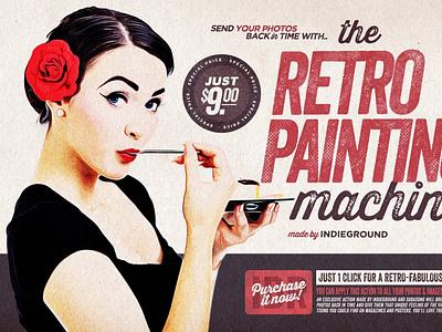 The Retro-Painting Machine motion graphics 3d animation ux vector ui icon logo illustrator graphic design design illustration branding