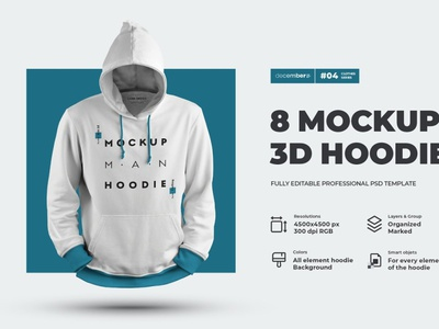8 3D Men Mockups Hoodie ux vector logo motion graphics 3d animation icon ui illustrator graphic design design illustration branding