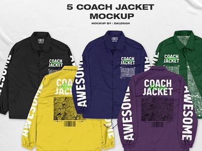 5 Coach Jacket - Mockup ux vector logo icon illustrator graphic design 3d animation ui design illustration branding