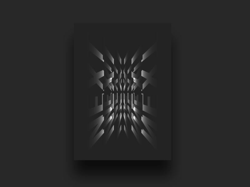 Next   Poster mockup dark daily advert vector prints poster typogaphy white black print