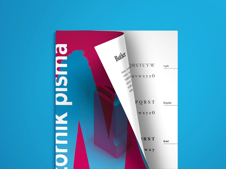Font sampler book | Print typo sampler brush 3d illustration book cover design typography branding font