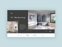 Bathroom studio page | Webdesign