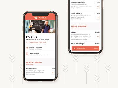 Order page lunch bread food app phone menu design clean focus simple website mobile ui mobile design mobile ui design takeaway takeout menu order restaurant