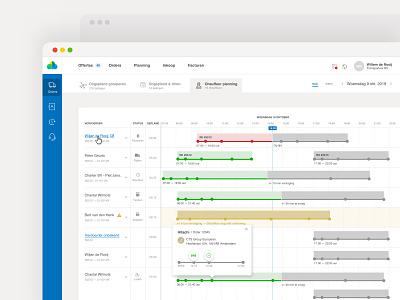 Drivers timeline track orders ux ui app schedules scheduler schedule planning planner timeline driver calendar agenda
