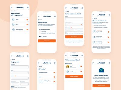 Registration flow focus simple clean steps process registration flow web mobile white ui website design