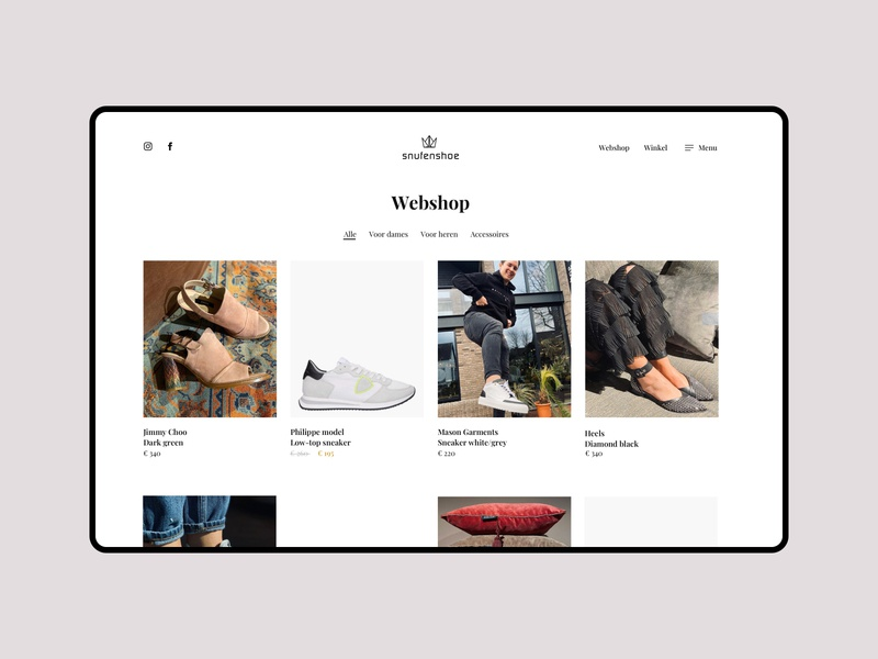 Webshop concept webshocker woocomerce ecommerce commerce webshop white focus website simple clean ui design