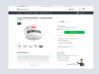 Ecommere productpage web simple focus website clean design commerce webshop product page ecommerce