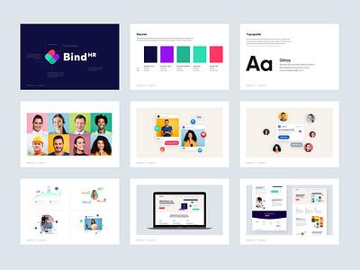 Bind HR Brandguide illustration logo branding design brand identity brandbook brand branding