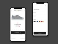 Shoe commerce mobile views