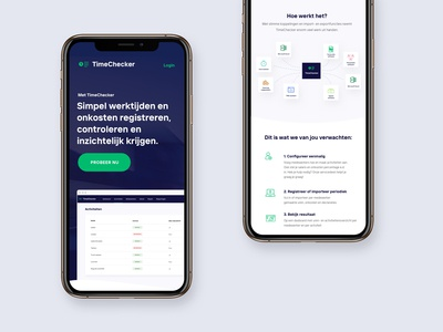 Simple page for a TimeChecker app