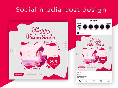 valentines social media post social media post frame love template media holiday modern romantic bundle graphic set social editable banner valentine layout marketing sale illustration promotion