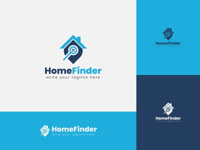 Home finder real estate logo home finder real estate company logo icon creative building sell