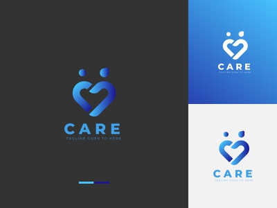 Mothers love or Take care Logo baby mother care love logo happy child family mom heart