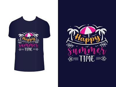 Summer t-shirt design season umbrella summertime lettering design typography vintage fashion t-shirt t shirt summer