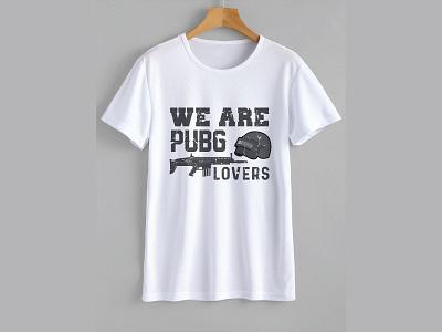 T-Shirt design for pubg lover vector typography design t-shirt gaming pubg lover