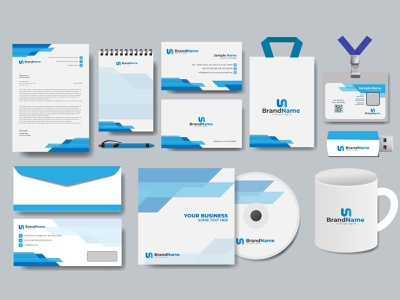 Corporate Business Identity Design group of objects design element office cd case envelope bag notepad business card id card letterhead stationary corporate identity corporate business