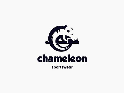 Chameleon mark logotype branding negative space black design illustration chameleon character animal minimal logo