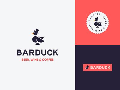 Barduck duck logo drinks bird gentleman hat animal logo mascot beer wine bar goose duck