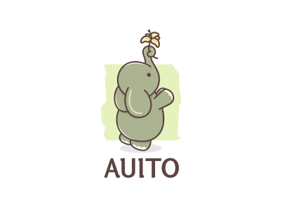 Auito animal company fondation charity flower lilly character logo elephant