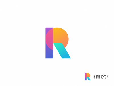 R / Icon / Logo trend property real estate geometry colors color icon logo r