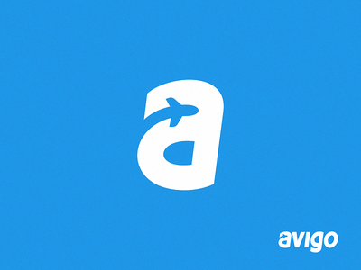 Avigo service clouds custom website ticket tickets letter airplane plane logo avia