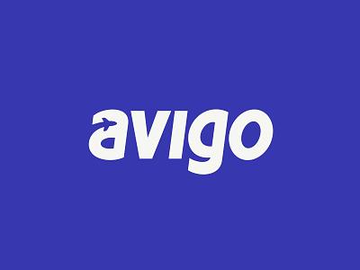 Avigo avia logo plane airplane letter tickets ticket website custom clouds service