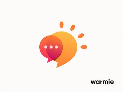Warmie dialog phone telephone warm sunny summer center talk call bubble chat sun