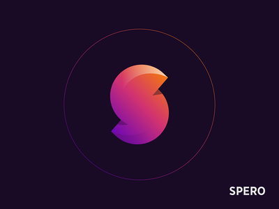 Spero futuristic future s hope monogram letter logo