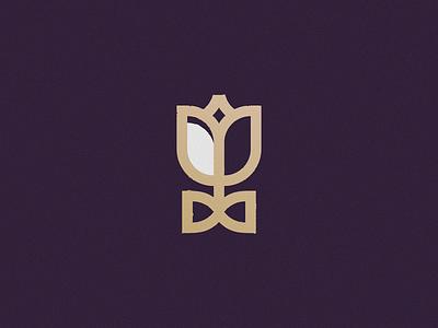 Tulip Business art logotype business tie lawfirm lawyer law illustration minimal design logo flower tulip