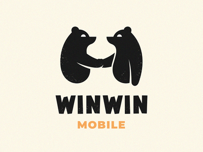 Winwin mobile minimal development games indie character bear logo animal studio
