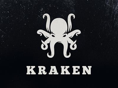Kraken creature beast ocean negative space sea kraken octopus logo logotype illustration character