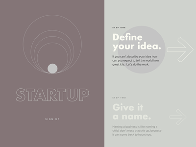 The Startup uxdesign uxui concept web typography startup modern simple interface design website ui ux clean art direction