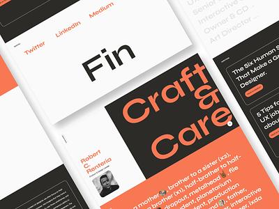bobby.design - Personal Portfolio Site (WIP) webdesign web personal personal site portfolio typography identity minimal branding uxui uxdesign website design modern ux ui