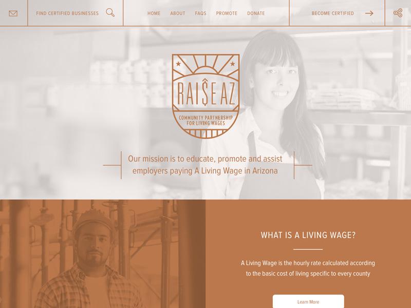 Raisearizona website concept