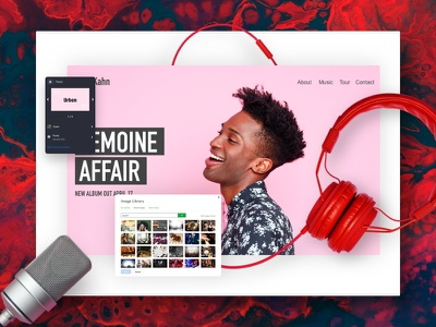 Blood, sweat and tears passion music ui website design