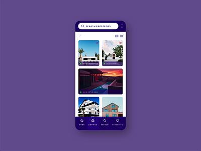 Real Estate App Interactions uxui uxdesign design xd motion ux modern app ui