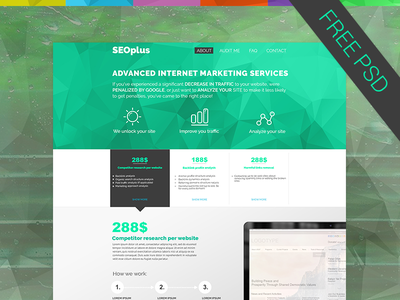Free psd template download template seo landing free