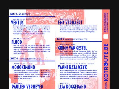 De kotroute 2019 - brochure pantone latinotype minimal design system illustrator