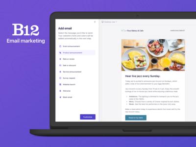 B12 Email marketing