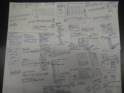 SEO management interface sketches
