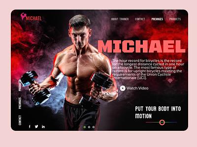 Fitness Trainer ux ui design website web