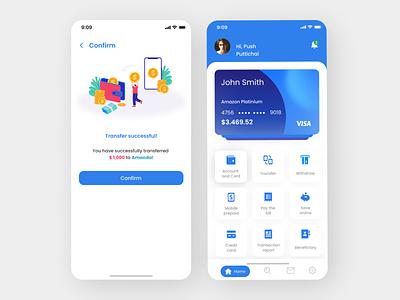 Payment App light theme flat design app ux ui