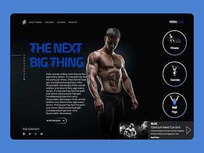 Fitness Trainer Web design typography website web design app ux ui