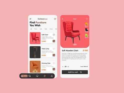 Furniture App ux design uidesign uiux online shopping clean ui clean new app design design app ux ui