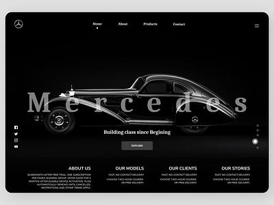 Cars Landing Page online new clean ui clean branding website web design ux ui