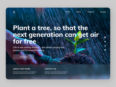 Plants Web clean clean ui branding shopping online new website web ui ux design